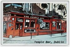 TEMPLE BAR - JUMBO FRIDGE MAGNET - DUBLIN IRELAND EIRE IRISH SOUVENIR