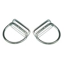 """2x Dive Rite Stainless Steel 2"""" D-Rings Welded Bend 45° (Weight Belt SS S/S 2in)"""