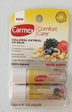 New 2 Pack Carmex Comfort Care Colloidal Oatmeal Lip Balm Mixed Berry