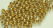 "50) 5/32"" BRASS FLY TYING BEADS color: GOLD ( 4.0mm 4mm )"