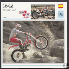 1992 Gas-Gas 250cc Contact GT 25 Trials Bike Spain Motorcycle Photo Spec Card