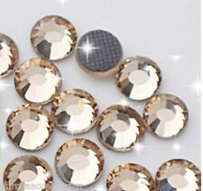 4mm Great Quality Hot Fix/Iron On Crystal LIGHT COLORADO TOPAZ Flatback SS16