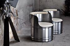 Metall Sessel Stuhl aus 200l Fass Ölfass Fasssessel Fassmöbel industrie
