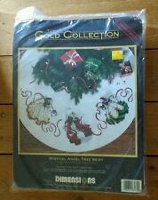 Dimensions Gold Collection Christmas Tree Skirt Mystical Angel Cross Stitch 45in