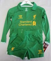 LIVERPOOL 2012/13 HOME KEEPERS MINI KIT BY WARRIOR SIZE 18-24 MONTHS BRAND NEW
