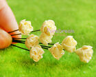 1/12 Dollhouse Miniature Clay Flower Yellow Gardenia lot of 6pcs without vase