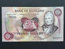 Scotland 20 Twenty Pounds P114d Bank of Scotland A985160 Date 16th July 1979 VF+