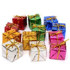 12pcs Mini Christmas Ornaments Foam Gift Box Xmas Tree Hanging Party Nice Decor