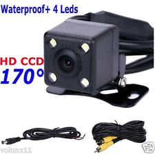 Car HD CCD Reversing Rear View Camera Backup Parking 4 IR LED Waterproof 170°