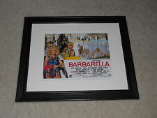 "Framed Barbarella Jane Fonda Mini-Poster, UK QUAD Cult Hit 1968 14""x17"""