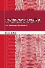Theories and Manifestoes of Contemporary Architecture  Books-Good Condition