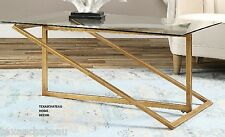 Hollywood Regency Modern Furniture ~ GOLD LEAF METAL ~  COFFEE TABLE HORCHOW NEW