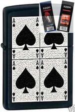 Zippo 6380 aces of spades Lighter with *FLINT & WICK GIFT SET*