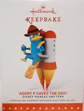 HALLMARK 2015 Agent P Saves the Day Disney Phineas and Ferb NEW Perry Platypus