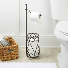 Toilet Paper Holder and Storage Oil Rubbed Bronze Free Standing Stand