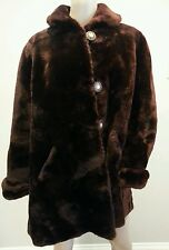 Vtg 50's Beau Mouton Jacques Heim Sheared Dyed Lamb Fur Coat