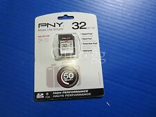PNY 32GB High Performance SDHG10H-GE 50MB/s Flash Memory Card