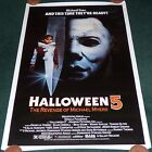 HALLOWEEN 5 THE REVENGE OF MICHAEL MYERS 1989 ORIG ROLLED 1 SHEET MOVIE POSTER