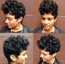 Women Short Black Color Curly Hairstyle Synthetic Hair Wigs For Black WOmen