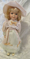 Queena Q Mint Victorian Porcelain Doll in the Box with Stand