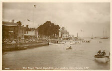 COWES I.W. UK ROYAL YACHT SQUADRON & LONDON CLUB REAL PHOTO P/C