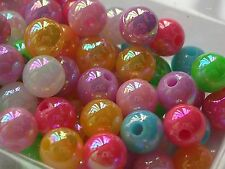 500+  6mm Multicolor opaque 6mm Round acrylic plastic loose beads