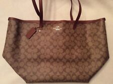 New With Tags Coach Signature Taxi Large Tote Handbag