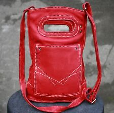 GUATE Genuine Leather Red Shoulder/Crossbody bag