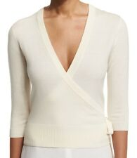 NWT $265 Theory Wrap Merino Wool Crop Cardigan Size S