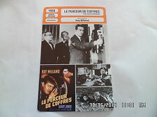 CARTE FICHE CINEMA 1958 LE PERCEUR DE COFFRES Ray Milland Barry Jones J.Sterke