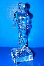 Lead Crystal Soccer Boy Man Player Figurine Paperweight Signed PH Italy? 6 3/4""