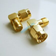 Right Angle SMA Male and SMA Female Antenna RF Connector Adapter 90 degree