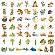 700Image Cricut Campin' Critters Cartridge Badge Scout Die Cut Boy Camp Outdoors