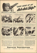 1944 WW2 AD CHRYSLER builds 40mm AA Guns for Battleship South Dakota 112716