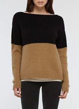 RALPH LAUREN BLACK LABEL COLORBLOCK Cashmere/Silk Blend Sweater Size XL/L $699