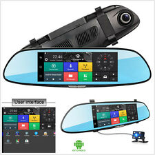 3G 1080P 7'' GPS video recorder Bluetooth WIFI 2- Lens rearview mirror Dash cam