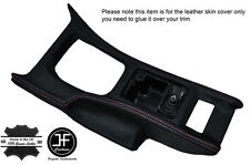 PINK STITCH CONSOLE GEAR SURROUND LEATHER COVER FITS NISSAN 300ZX Z32 90-96