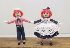 Dollhouse Miniature Raggedy Ann and Andy