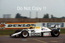 Ayrton Senna Williams FW08C Donington Park Test 1983 Photograph 1