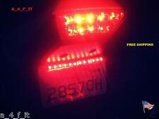 "4X Red 3"" Car Motorcycle Decorative SMD LED Strip Brake Signal Tail Light"