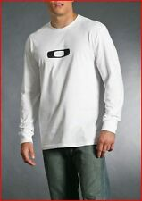 Men's OAKLEY - Long Sleeve SQUARE O tee shirt - white - size  L