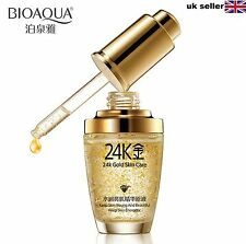 Bioaqua 24K Gold Essence Skin Day Whitening Moisturizing Hyaluronic Acid Liquid