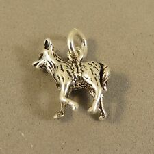 .925 Sterling Silver Small 3-D FOX CHARM NEW Pendant Animal 925 AN85