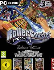 Rollercoaster Tycoon 3 + 2 Addons WILD + soaked Deluxe usato molto buona Resp