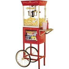 Home 24 Cup Popcorn Machine Cart & Stand, Nostalgia Electrics Pop Corn Maker