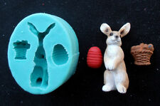 Silicone Mould EASTER RABBIT STANDING Sugarcraft Cake Decorating Fondant / fimo