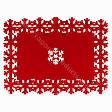 40cm x 30cm Felt Christmas Dinner Snowflake Place Mat Festive Table Decorations