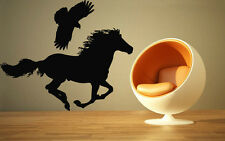 Wall Stickers Vinyl Decal Animal Bird Horse Falcon Wall Decor Mural Vinyl ig022