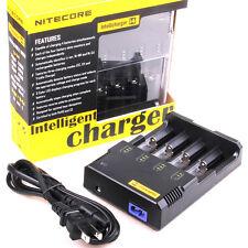 Sysmax i4 Nitecore 14500 18650 CR123A 16340  AA AAANi-MH / Ni-CD Battery Charger