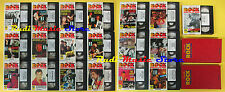 19 VHS + 2 BOOK IL GRANDE ROCK VIDEO lennon hendrix doors marley cd lp dvd (VM9)